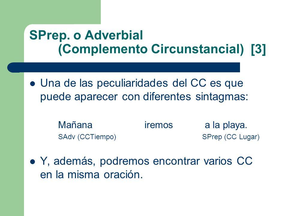 SPrep. o Adverbial (Complemento Circunstancial) [3]